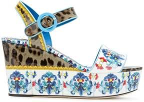 Dolce & Gabbana printed platform sandals