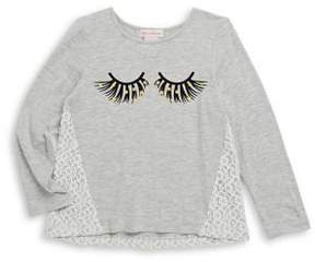 Design History Little Girl's Jersey Graphic Top