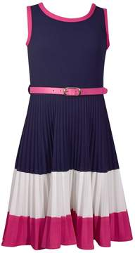 Bonnie Jean Girls 7-16 Pleated Colorblock Dress
