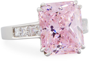 FANTASIA Emerald-Cut Pink CZ Crystal Ring