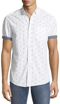 Report Collection Men's Cocktail Print Short-Sleeve Sport Shirt