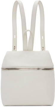 Kara Off-White Small Leather Backpack