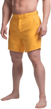 Jachs NY Solid Hampton Swim Trunks - Built-In Mesh Briefs (For Men)