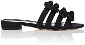 Barneys New York Women's Bow-Embellished Satin Slide Sandals
