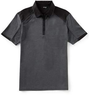 Murano Slim-Fit Pieced Jacquard Short-Sleeve Polo Shirt