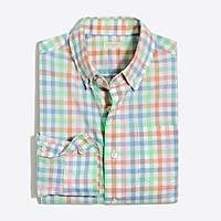 J.Crew Factory Boys' flex pattern washed shirt
