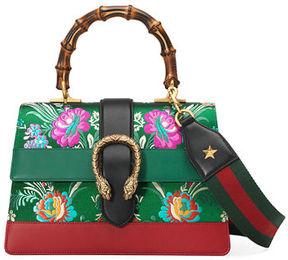 Gucci Dionysus Medium Jacquard Top-Handle Satchel Bag - GREEN METALLIC - STYLE