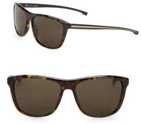 HUGO Havana 64MM Square Sunglasses