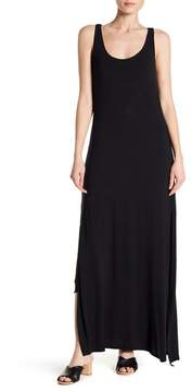 Joan Vass Solid Scoop Neck Maxi Dress