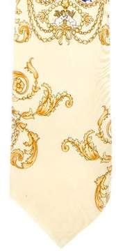 Gianni Versace Ornate Print Silk Tie