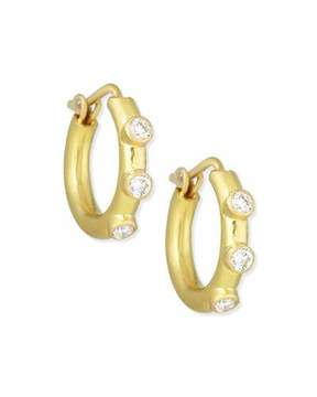 Elizabeth Locke 19K Big Baby Diamond Hoop Earrings