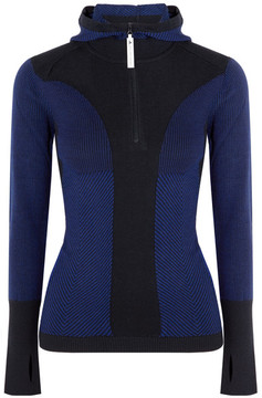 adidas by Stella McCartney Run Ultra Knitted Hooded Top - Navy