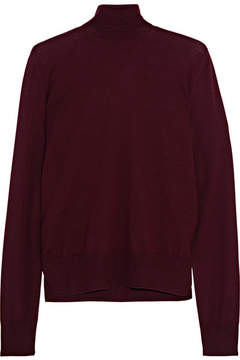 Bottega Veneta Merino Wool Turtleneck Sweater - Merlot