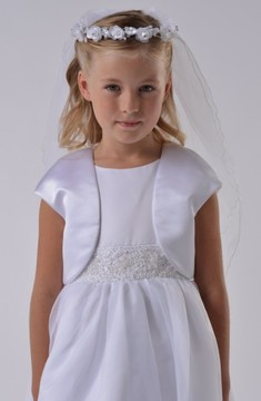 Us Angels Girl's Communion Satin Bolero