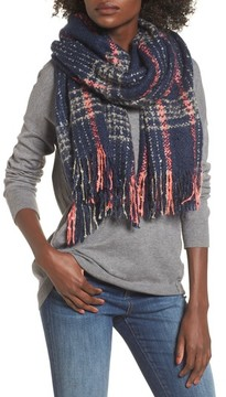 Sole Society Women's Speckled Check Blanket Scarf