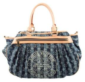 Louis Vuitton Monogram Denim Porte Epaule Raye GM - BLUE - STYLE