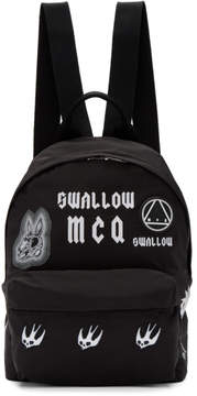 McQ Black Classic Swallow Backpack