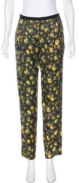 Band Of Outsiders Silk-Blend Mid-Rise Pants