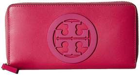 Tory Burch Charlie Zip Continental Wallet Bill-fold Wallet - BLACK - STYLE