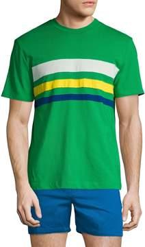 Parke & Ronen Men's Striped Crewneck Cotton T-Shirt
