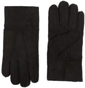 Topman Black Sheepskin Gloves