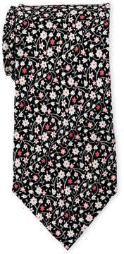Pierre Cardin Silk Flower Vine Tie
