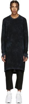 11 By Boris Bidjan Saberi Black and Blue Knit Mesh Pullover