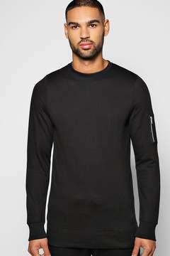 boohoo MA1 Crew Neck Sweatshirt
