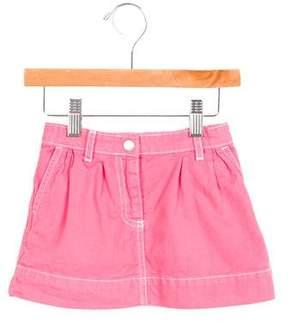 Petit Bateau Girls' A-Line Dual Pocket Skirt