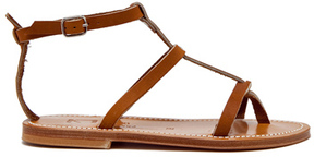 K. Jacques Gina Leather Sandals in Brown.