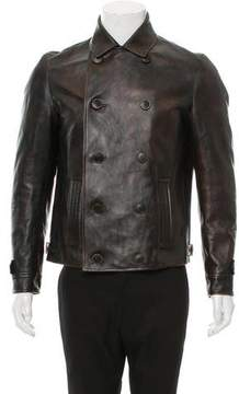 Salvatore Ferragamo Double-Breasted Leather Jacket