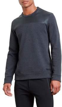 Kenneth Cole New York Long-Sleeve Pleather Sweatshirt - Men's