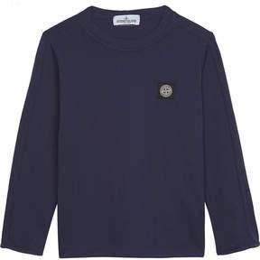 Stone Island Logo patch cotton t-shirt 4-14 years
