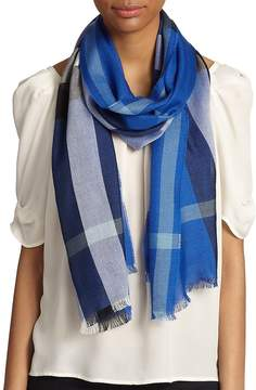 Burberry Women's Cashmere & Silk Check Scarf
