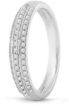 Ice Diamond Wedding Band for Women 14K White Gold 1/10Cttw