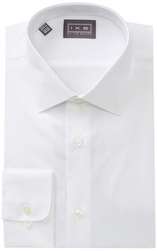 Ike Behar Solid Regular Fit Dress Shirt