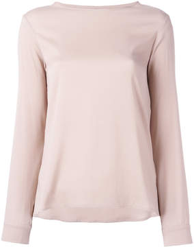 Eleventy long-sleeved top with curved hem