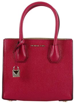 MICHAEL Michael Kors Handbag Mercer Medium Shopping Leather Bag - CHERRY - STYLE