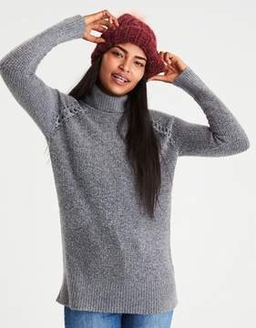 American Eagle Outfitters AE Waffle Knit Turtleneck Tunic