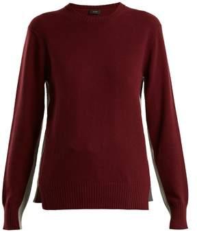 Joseph Morgon contrast-panel cashmere sweater