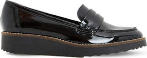 Dune Graphic patent flatform loafers