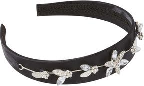 Scunci Black Headband With Rhinestones
