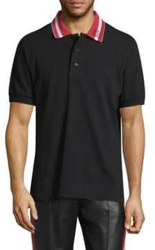 Bally Stripe Collar Cotton Polo