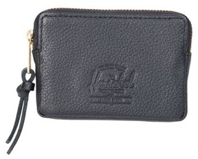 Herschel Men's Leather Zip Pouch - Black