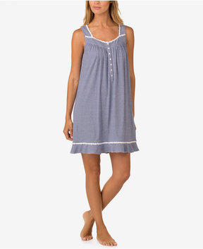 Eileen West Braided-Trim Cotton Nightgown