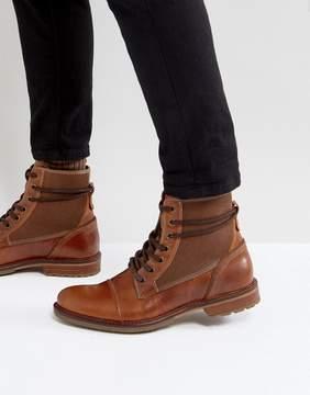 Aldo Gweawien Leather Lace Up Boots In Tan