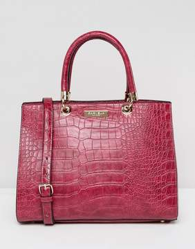 Carvela Darla Mock Croc Structured Tote Bag