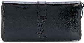Saint Laurent classic zip around wallet - BLACK - STYLE