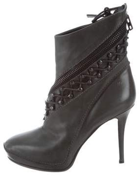 Haider Ackermann Leather Lace-Up Ankle Boots