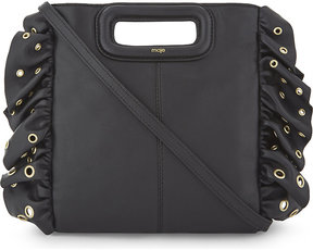 Maje M ruffled leather shoulder bag